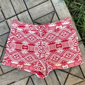 Forever 21 Aztec Tribal Red Print Size S